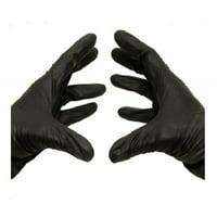 Medical Exam Powder-Free Nitrile Gloves, Large, Latex Free, Disposable, Vinyl Free, Black, 5 Mil, 100/Box