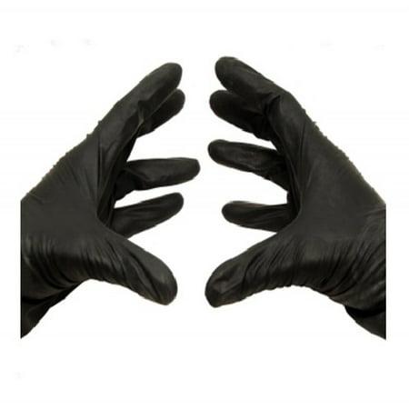 Medical Exam Powder-Free Nitrile Gloves, Medium, Latex Free, Disposable, Vinyl Free, Black, 5 Mil, 100/Box