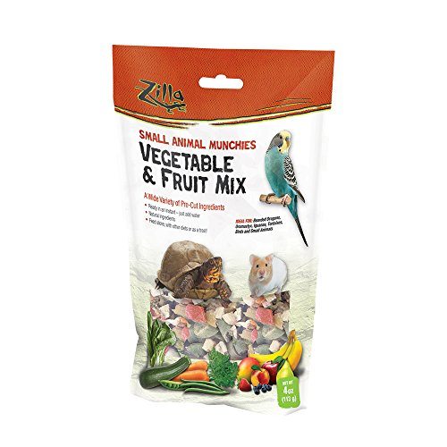 Zilla Reptile Food Munchies Vegetable & Fruit Mix, 4-Ounce
