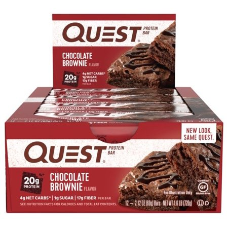 Quest Protein Bar, Chocolate Brownie, 20g Protein, 12 Ct ()