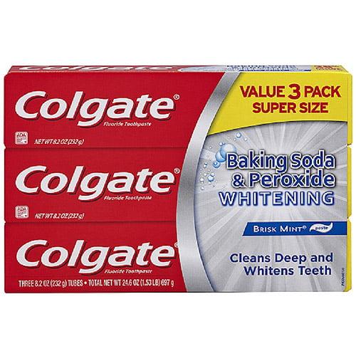 Colgate Baking Soda Peroxide Whitening Brisk Mint Toothpaste 8 2