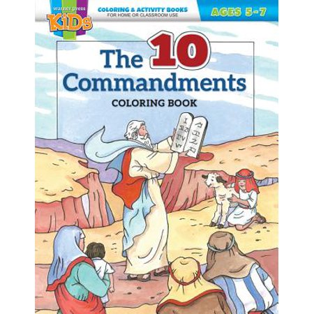 Kid/Fam Ministry Color and ACT Bks - General - The Ten Commandments (5-7)](Ministry Supplies)