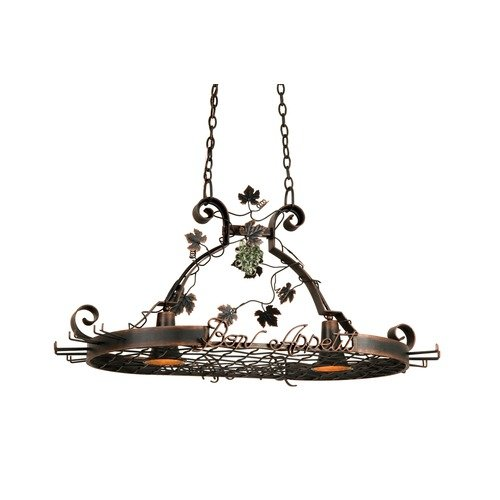 Kalco Bon Appetit 2 Light Hanging Pot Rack