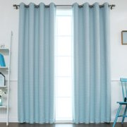 Best Home Fashion, Inc. Traditional Houndstooth Check Room Darkening Blackout Thermal Curtain Panels (Set of 2)