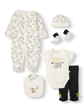 Duck Duck Goose Baby Shower Layette Gift Set, 7pc (Baby Girls)