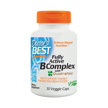 Complex 250 Caps - Doctor's Best Fully Active B Complex, Non-GMO, Gluten Free, Vegan, Soy Free, Supports Energy Production, 30 Veggie Caps