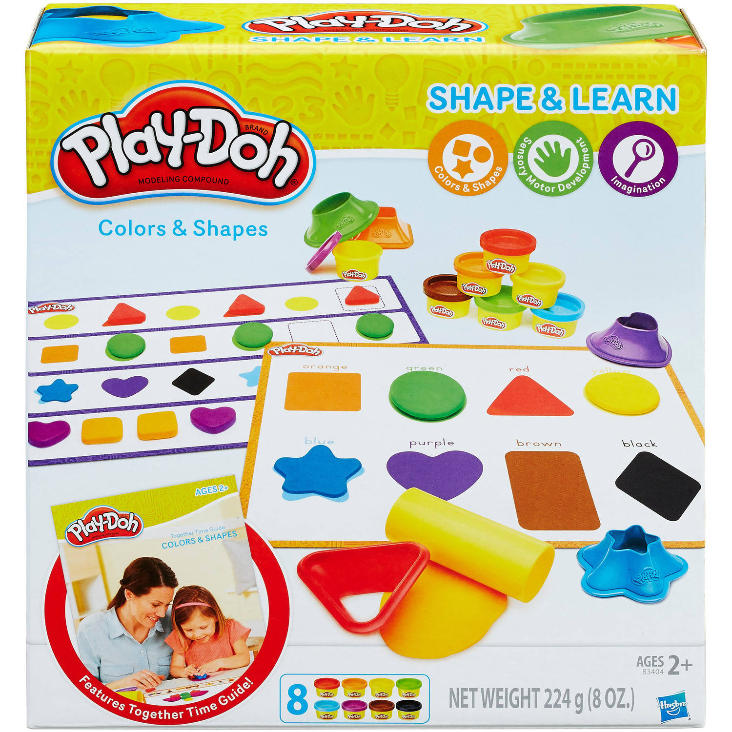 Play-Doh Shape & Learn Colors & Shapes with 8 Cans of Dough & 5+ Tools