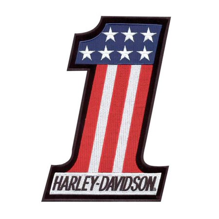 Harley-Davidson #1 Red, White & Blue Small Patch EM227842, Harley Davidson ()