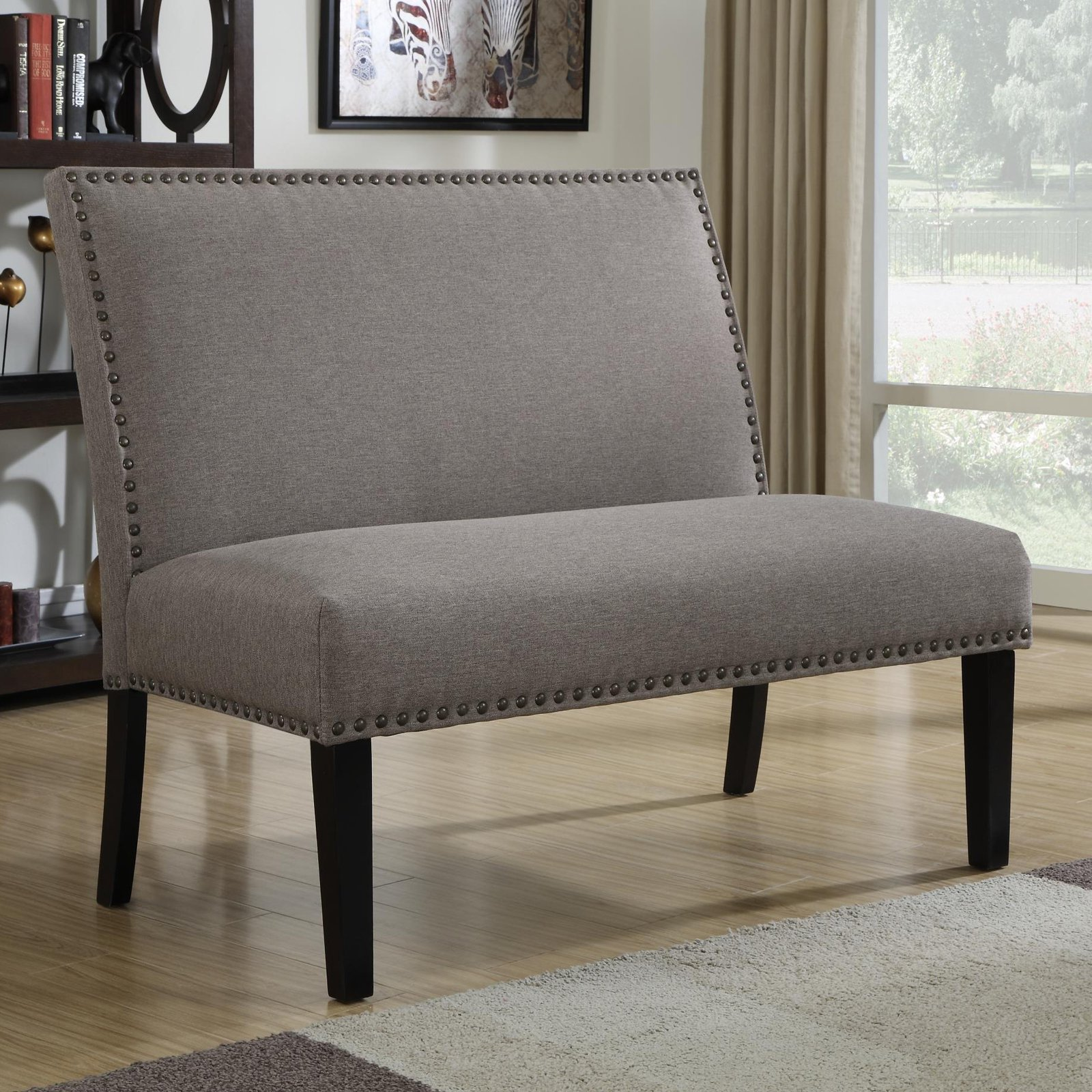 Home Meridian Banquette, Gray