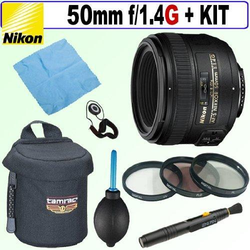 Nikon 50mm F/1.4G Sic SW Prime Nikkor Autofocus Lens + Deluxe Accessory Kit