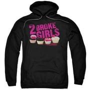 2 Broke Girls Cupcakes Mens Pullover Hoodie