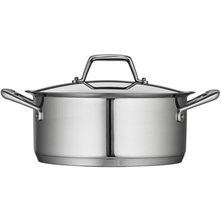 Tramontina Gourmet Prima 5-Quart Covered Dutch Oven with Tri-Ply Base