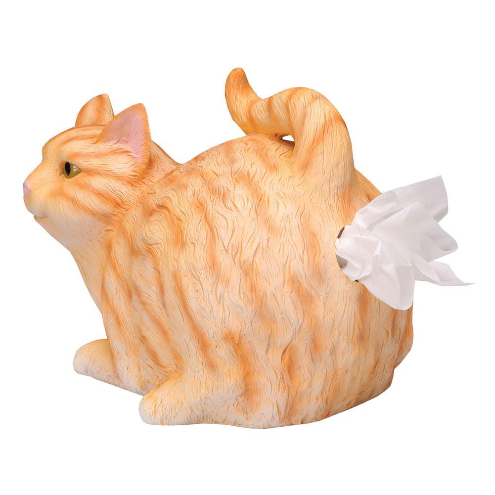 Cat Butt Tissue Holder - Resin - Fits Standard Square Tissue Box