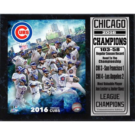 Chicago Cubs 2016 NL Champions 12x15 Stat