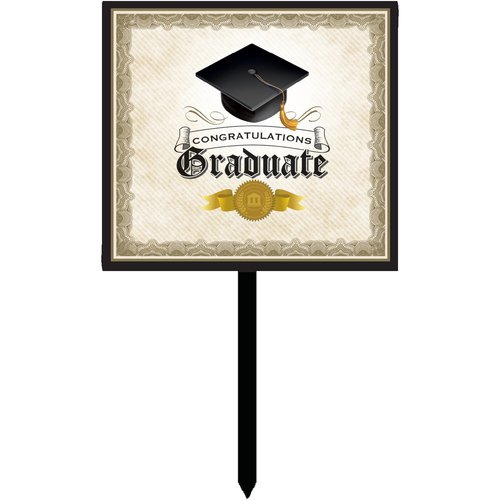 Cap and Gown Graduation Yard Sign Each