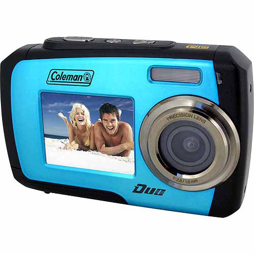 Coleman Blue Duo 2V7WP Waterproof Digital Camera with 14 Megapixels and 3x Digital Zoom