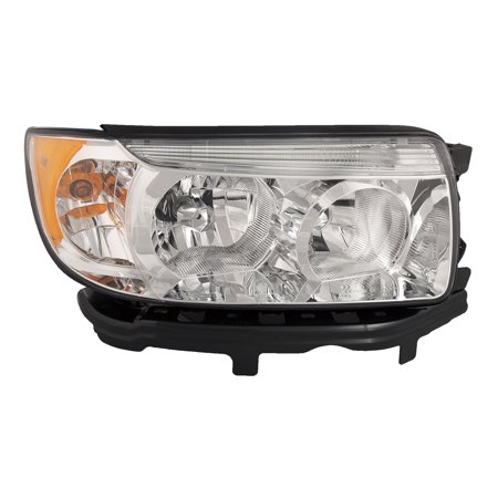 2006-2008 Subaru Forester 2007-2008 Forester w/o Sports Package New Passenger Side Headlight Right Headlamp Assembly SU2503119 ()