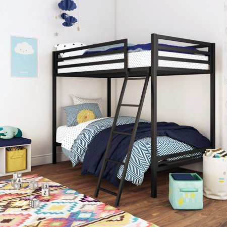 Mainstays Premium Twin Over Twin Metal Bunk Bed, Multiple