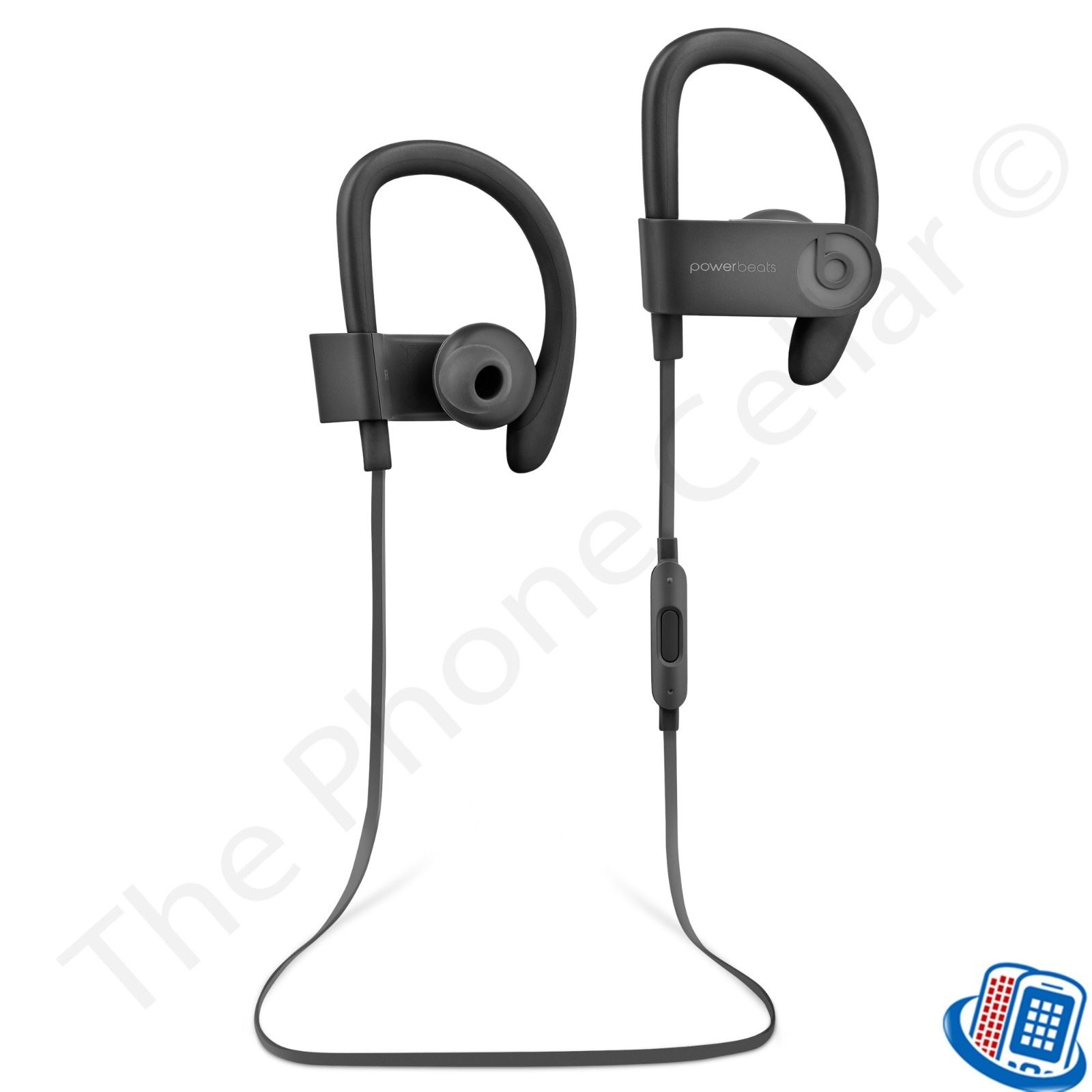 Refurbished Beats by Dr. Dre Powerbeats 3 Wireless Active Black Bluetooth Ear-Hook Headphones