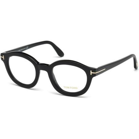 4bb60427f1276 Tom Ford Round Eyeglasses TF5460 001 Size  49mm Black FT5460 - Walmart.com