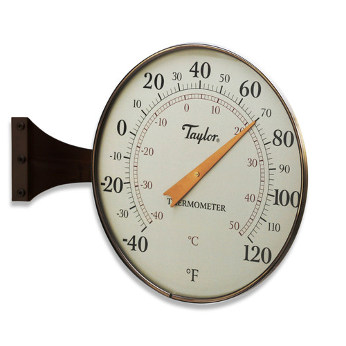 """Taylor 8.5"""" Dial Thermometer, Bronze"""