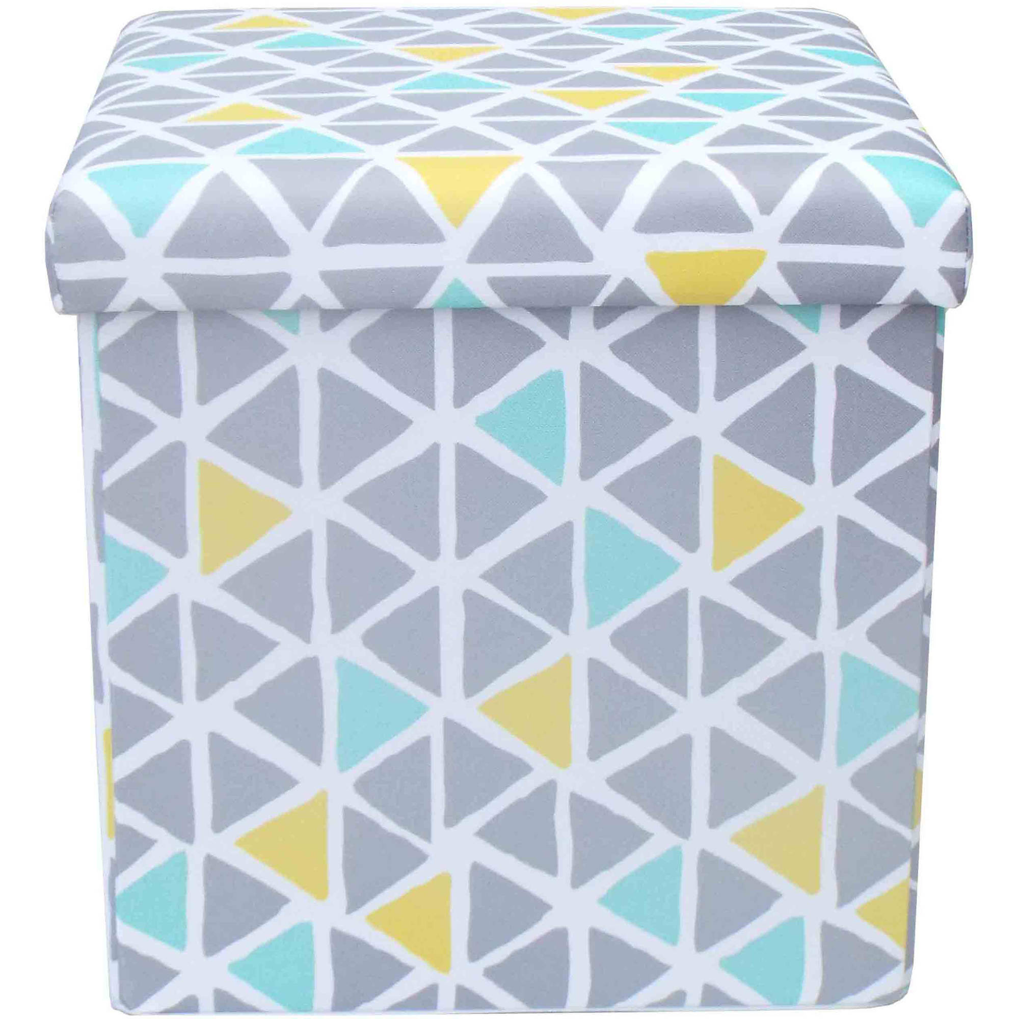 Mainstays Collapsible Storage Ottoman, Multiple Colors