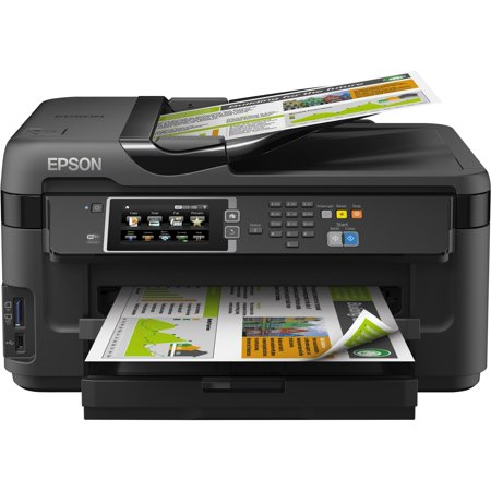 Epson WorkForce WF-7610 Inkjet Multifunction Printer - Refurbished - Color - Plain Paper Print - Desktop - Copier/Fax/Printer/Scanner - 18 ppm Mono/10 ppm Color Print (ISO) - 4800 x 2400 dpi