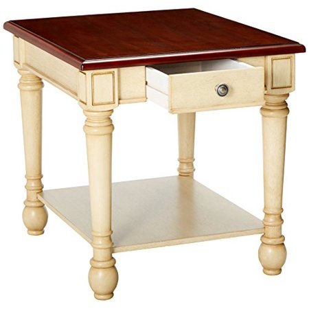 Coaster Home Furnishings 704417 End Table, NULL, Dark Cherry/Antique