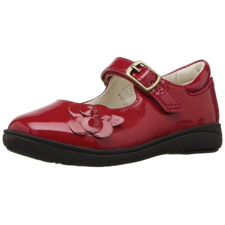 Stride Rite Kids Ava Girl's Patent Leather Lightweight Mary, Red, Size 7 -