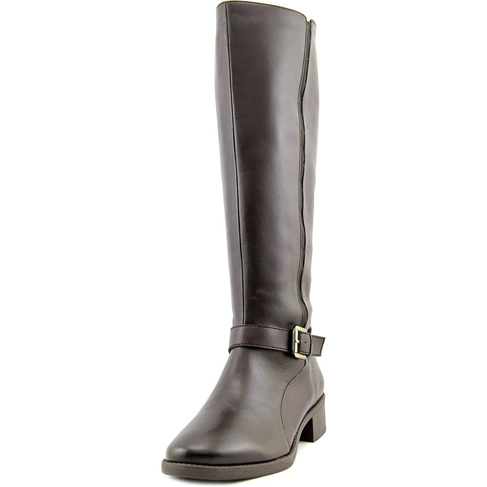 Easy Spirit Nadette Wide Calf Women W Round Toe Leather Knee High Boot by Easy Spirit