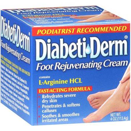 DiabetiDerm Formule d'action rapide des pieds Crème rajeunissante, 4 oz