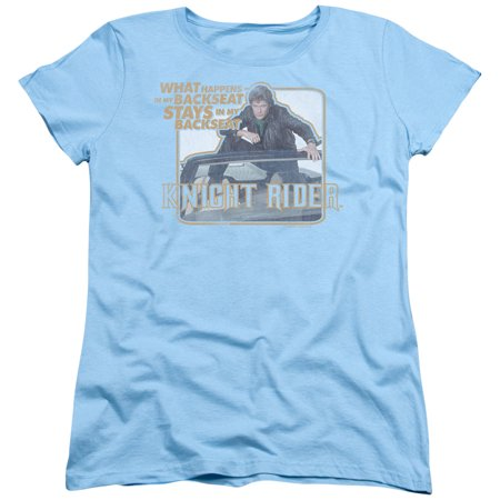 Knight Rider Sci-Fi Action TV Series Hasselhoff Back Seat Women's T-Shirt Tee