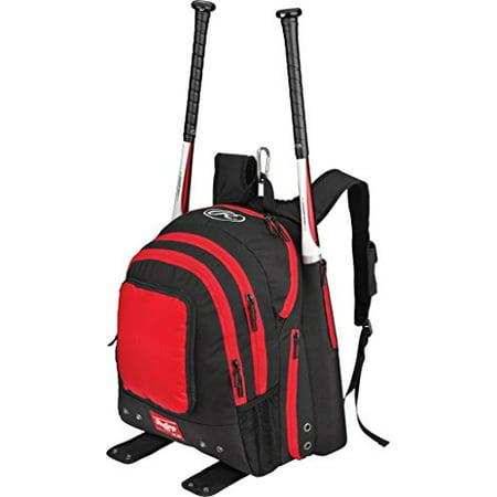 Rawlings Bkpk S Baseball Player Bat Backpack Scarlet Red