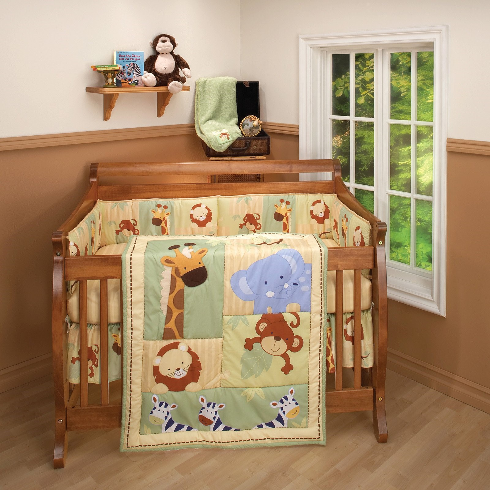 Little Bedding by NoJo Safari Kids 3 Piece Crib Bedding Set