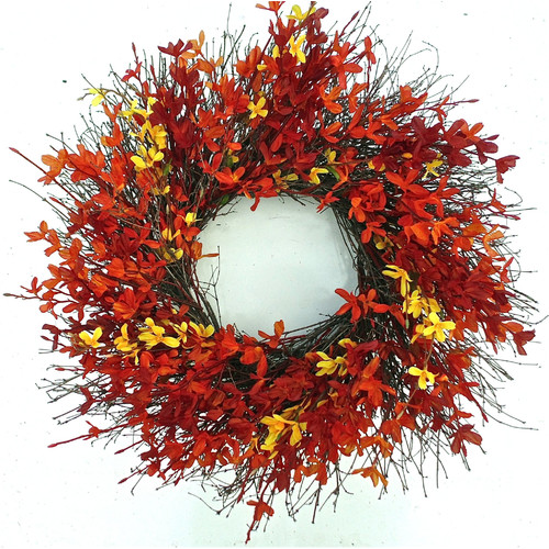 Dried Flowers and Wreaths LLC Firebush Wreath