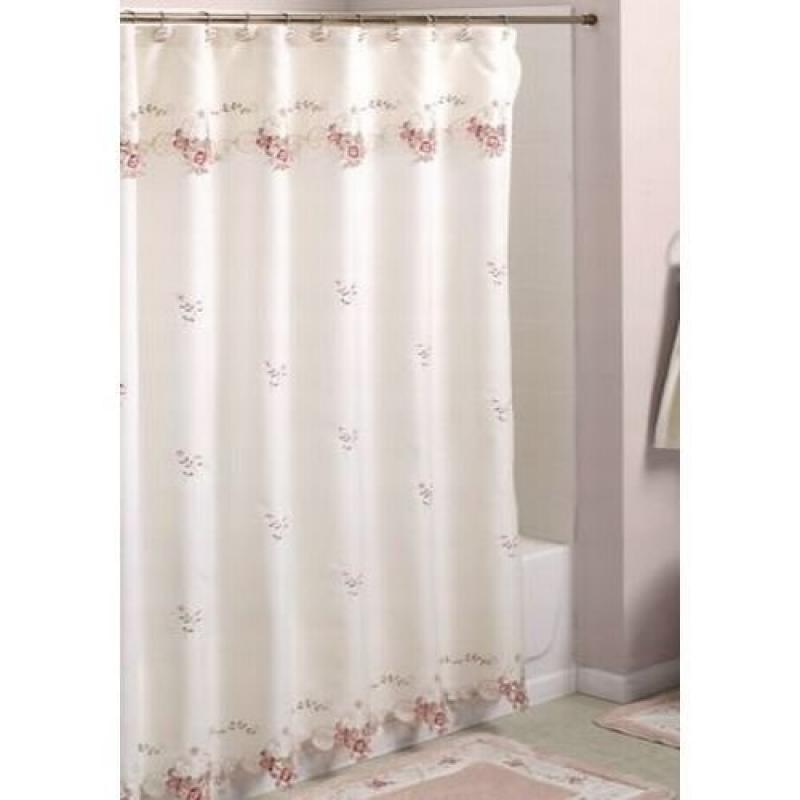 Verona Embroidered Shower Curtain