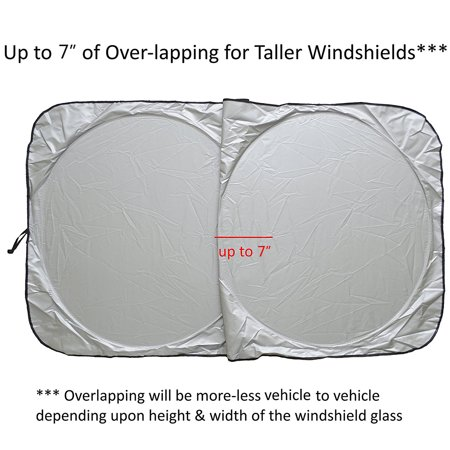 Fordawn Windshield Sun Shade - for Maximum UV and Sun Protection –Foldable Sunshade for car Windshield Will Keep Your car Cooler- Windshield Sunshade (Large) - image 3 de 9