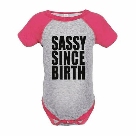Sassy Bodysuit - 7 ate 9 Apparel Girl's Sassy Birthday Pink Raglan Onepiece - 18 Month Onepiece