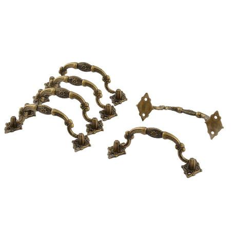 Uxcell 11cmx4cm Cabinet Drawer Door Plastic Vintage Knob Pull Handle Bronze Tone - 12 Cm Bronze Handle