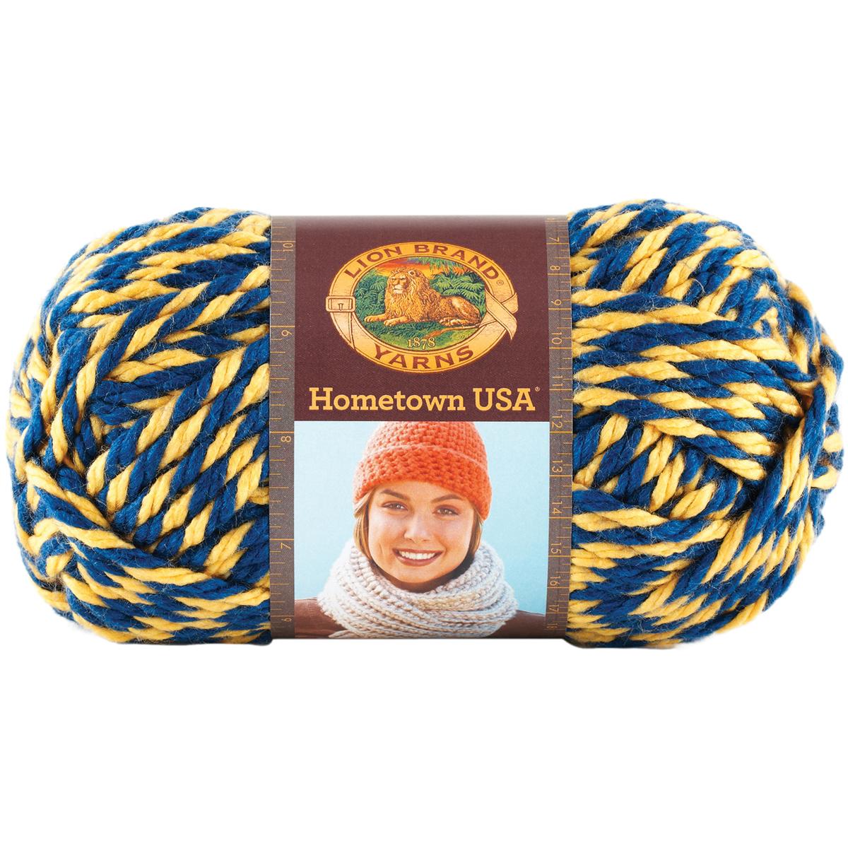 Lion Brand Yarn 135-610 Hometown USA Yarn, Wolverines Multi-Colored