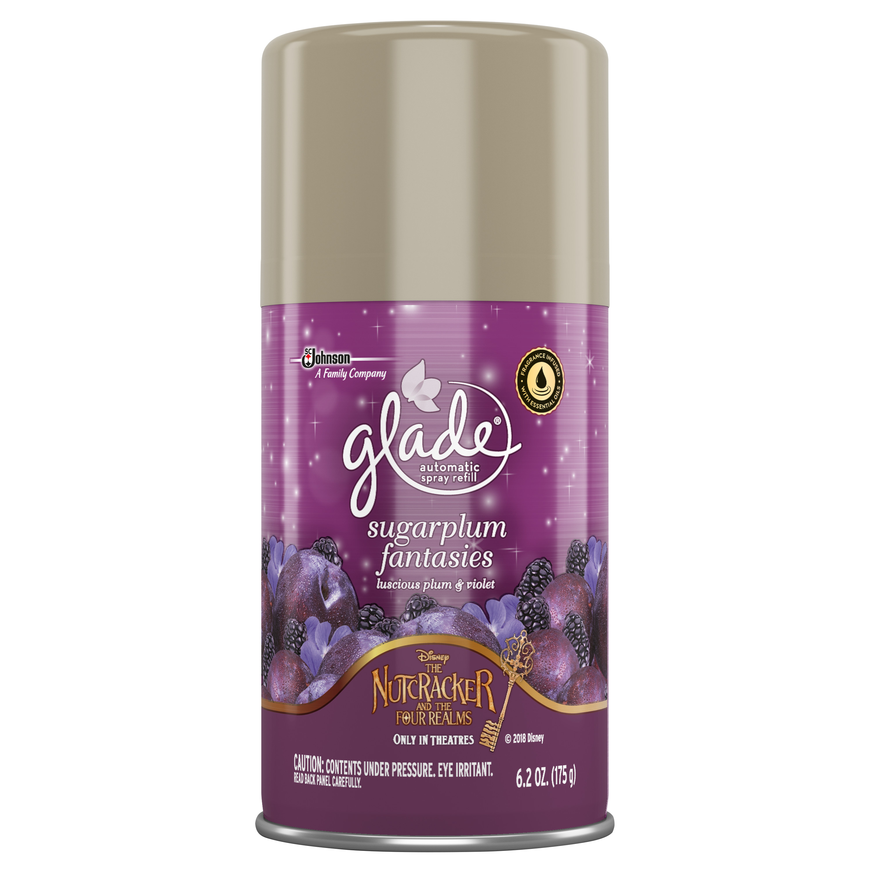 Glade Automatic Spray Air Freshener Refill, Sugarplum Fantasies, 6.2 Ounces
