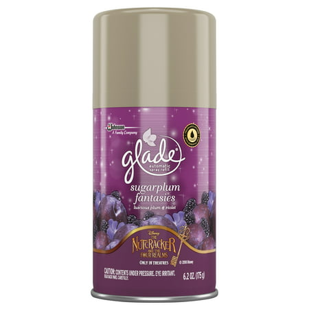 Glade Automatic Spray Air Freshener Refill, Sugarplum Fantasies, 6.2 Ounces