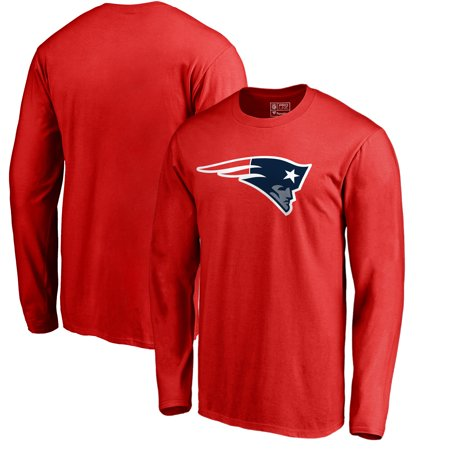 New England Patriots NFL Pro Line by Fanatics Branded Team Primary Logo Long Sleeve T-Shirt - Red