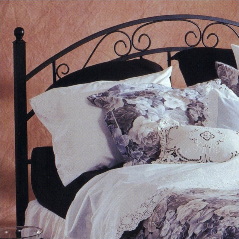 Hillsdale Willow Spindle Headboard in Black-Full