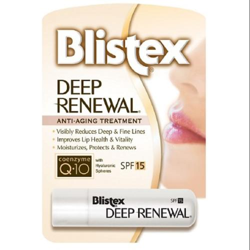 Blistex Deep Renewal Lip Protectant, SPF 15 0.15 oz (Pack of 4)