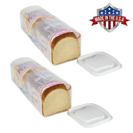 Sandwich Platter Containers (2 Pk Bread Keeper Sandwich Bread Box Holder Dispenser Crush-Proof Kitchen Travel)