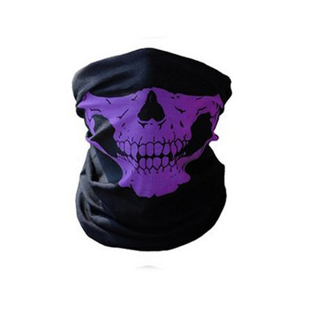 Unseamed Multifunctional Headband Skull Bandana Helmet Neck Face Mask Thermal Scarf Halloween Props - Face Skull Halloween