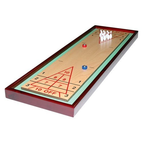 CHH Wooden Shuffleboard with Bowling Table Top Game