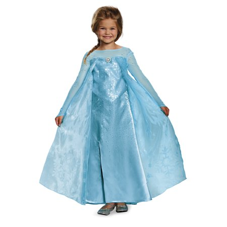Frozen Elsa Costume Dress (Child Frozen Elsa Ultra Prestige Costume by Disguise)