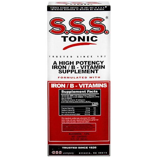 S.S.S. B-Complex Vitamin Tonic Liquid, 10 fl oz